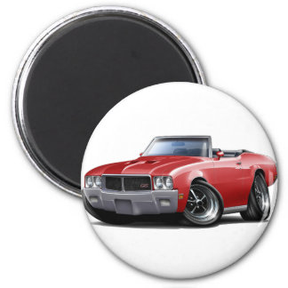 1970-72 Buick GS Red Convertible 2 Inch Round Magnet