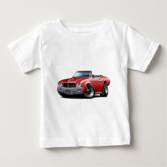 1970-72 Buick GS Red Convertible Baby T-Shirt
