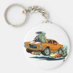 1970-72 Camaro Orange-White Car Basic Round Button Keychain