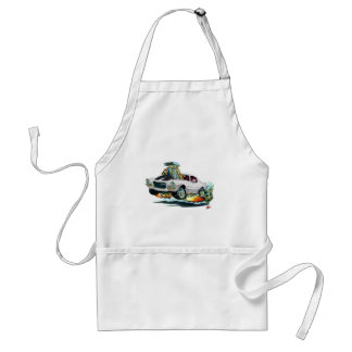 1970-72 Camaro White-Black Car Adult Apron
