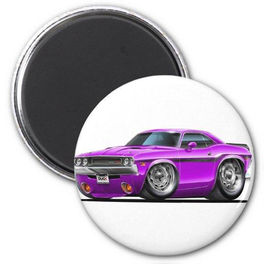 1970-72 Challenger Purple Car Magnet