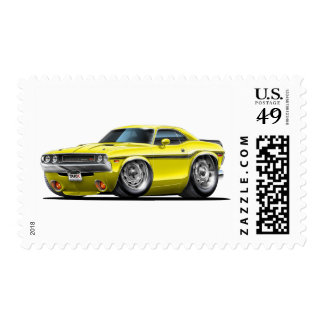 1970-72 Challenger Yellow Car Postage Stamp