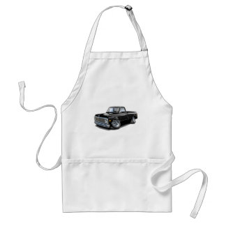 1970-72 Chevy C10 Black Truck Adult Apron