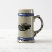 1970-72 Chevy C10 Black Truck Beer Stein