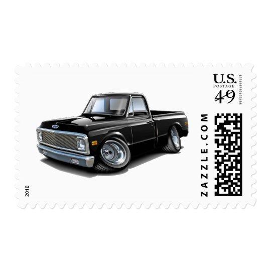 1970-72 Chevy C10 Black Truck Postage