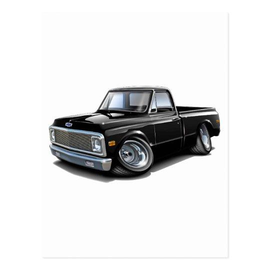 1970-72 Chevy C10 Black Truck Postcard