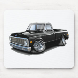 1970-72 Chevy C10 Black-White Top Truck Mouse Pad