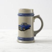 1970-72 Chevy C10 Blue Truck Beer Stein