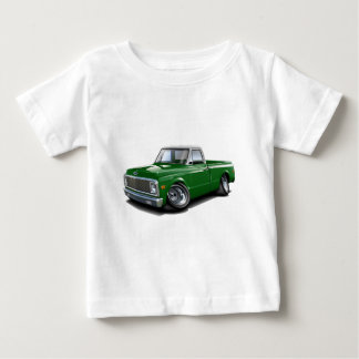 1970-72 Chevy C10 Green-White Top Truck Infant T-shirt