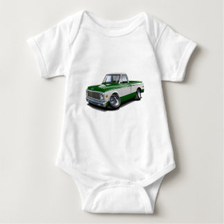 1970-72 Chevy C10 Green-White Truck Baby Bodysuit