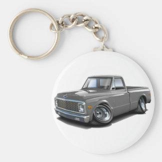 1970-72 Chevy C10 Grey Truck Basic Round Button Keychain