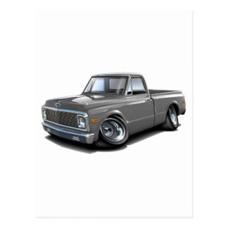 1970-72 Chevy C10 Grey Truck Postcard