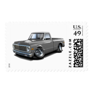 1970-72 Chevy C10 Grey-White Top Truck Postage