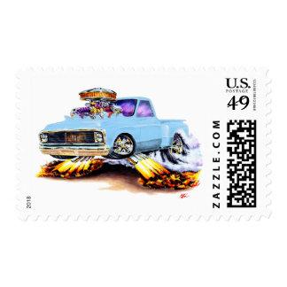 1970-72 Chevy C10 Light Blue Truck Postage