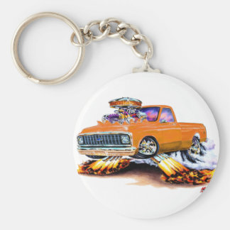 1970-72 Chevy C10 Orange Longbed Keychain