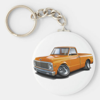 1970-72 Chevy C10 Orange Truck Keychain