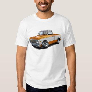 1970-72 Chevy C10 Orange-White Truck Tee Shirt