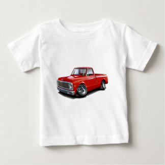 1970-72 Chevy C10 Red Truck Baby T-Shirt