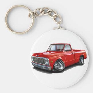1970-72 Chevy C10 Red Truck Basic Round Button Keychain