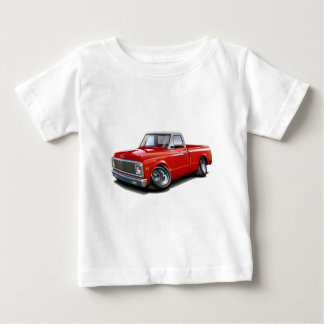 1970-72 Chevy C10 Red-White Top Truck Infant T-shirt