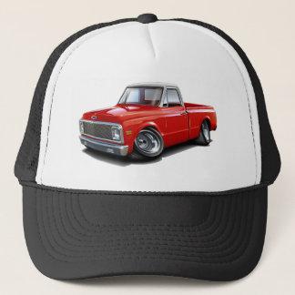 1970-72 Chevy C10 Red-White Top Truck Trucker Hat