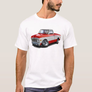 1970-72 Chevy C10 Red-White Truck T-Shirt