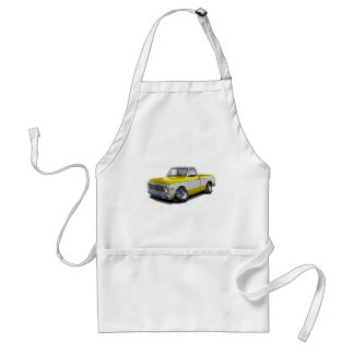 1970-72 Chevy C10 Yellow-White Truck Adult Apron