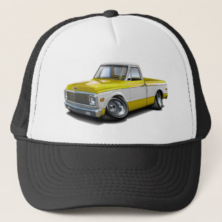 1970-72 Chevy C10 Yellow-White Truck Trucker Hat