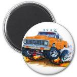 1970-72 Chevy CK1500 Orange Truck Fridge Magnets