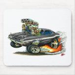 1970-72 coche del negro del desafiador de Dodge Tapete De Raton