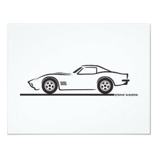 1970-72 Corvette 4.25x5.5 Paper Invitation Card