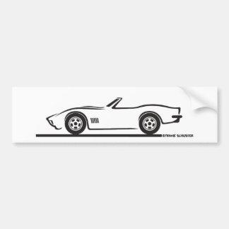 1970-72 Corvette Convertible Bumper Sticker