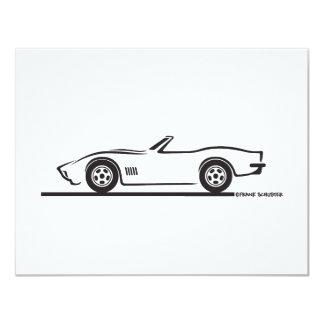 1970-72 Corvette Convertible 4.25x5.5 Paper Invitation Card