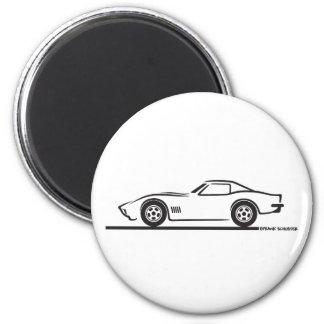 1970-72 Corvette 2 Inch Round Magnet