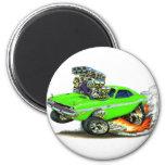 1970-72 Dodge Challenger Lime Car Fridge Magnet