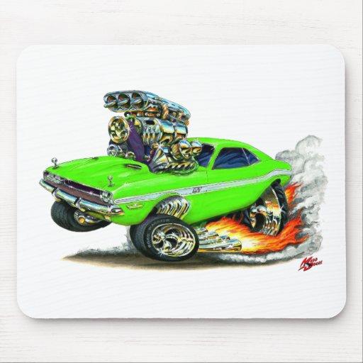 1970-72 Dodge Challenger Lime Car Mousepad