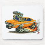 1970-72 Dodge Challenger Orange Car Mouse Pad