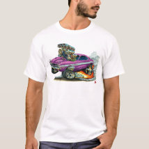 1970-72 Dodge Challenger Purple Car T-Shirt