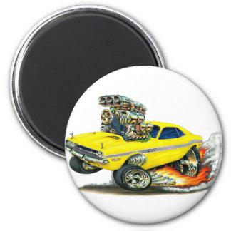 1970-72 Dodge Challenger Yellow Car Magnet