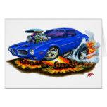 1970-72 Firebird Blue Car Cards