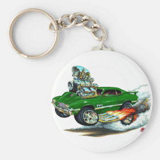1970-72 Olds Cutlass 442 Green Car Basic Round Button Keychain