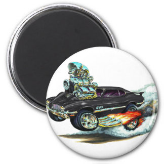 1970-72 Oldsmobile Cutlass 442 Black Car 2 Inch Round Magnet