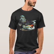 1970-72 Oldsmobile Cutlass 442 Black Car T-Shirt