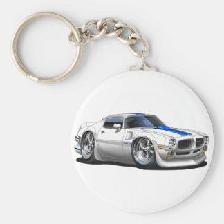 1970/72 Trans Am White Car Basic Round Button Keychain