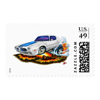 1970-72 Trans Am White Car Postage Stamp