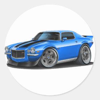 1970-73 Camaro Blu/Blk Car Classic Round Sticker