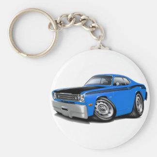 1970-74 Duster 340 Blue Car Basic Round Button Keychain