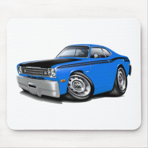 1970-74 Duster 340 Blue Car Mouse Pad