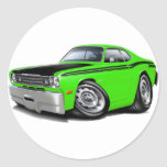 1970-74 Duster 340 Lime Car Classic Round Sticker