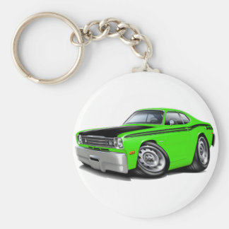 1970-74 Duster 340 Lime Car Basic Round Button Keychain